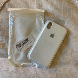 White apple logo silicone case